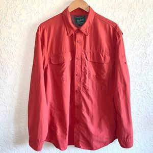 Woolrich long sleeve button down rust color XL